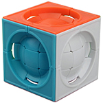 limCube Deformed 3x3x3 Centrosphere Cube Puzzle Colored