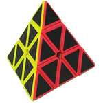 Carbon Fibre Stickered Pyraminx Magic Cube