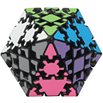LanLan Gear Conical Dodecahedron Magic Cube Black