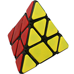 Cubetwist Bandaged Pyraminx Magic Cube Black