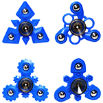 MoYu Fidget Fingertip Three Balls Hand Spinner Blue - Style ...