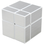 ShengShou 2x2x2 Mirror Block Magic Cube Silver White