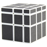 ShengShou Brushed Dark Grey Mirror Blocks Magic Cube White