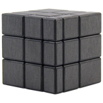 ShengShou Brushed Dark Grey Mirror Blocks Magic Cube Black