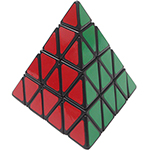 LanLan 4-layer Pyraminx Speed Cube Black
