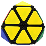 QJ Tetraminx Corner Cut Pyraminx Magic Cube Black