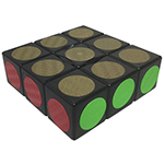 Carbon Fibre Stickered 1x3x3 Magic Cube Black