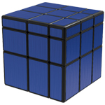 QiYi Brushed Blue Mirror Blocks Magic Cube Black