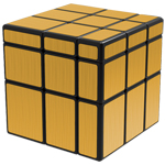 QiYi Brushed Golden Mirror Blocks Magic Cube Black