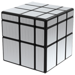 QiYi Brushed Silver Mirror Blocks Magic Cube Black