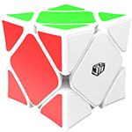 QiYi X-Man Magnetic Wingy Concave Skewb Speed Cube White