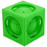 limCube Deformed 3x3x3 Centrosphere Cube Puzzle Green