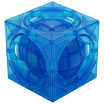 limCube Deformed 3x3x3 Centrosphere Cube Limited Edition Transparent Blue