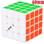 MoFangGe Mini Thunder Clap 4x4x4 Speed Cube 60mm White