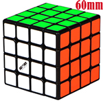 MoFangGe Mini Thunder Clap 4x4x4 Speed Cube 60mm Black