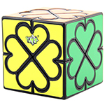 LanLan 4 Leaf Clover Heart Magic Cube Black