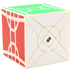 MoYu Fisher Time Wheel Magic Cube Puzzle White