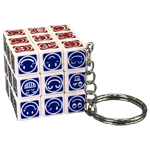 CB Emoticons 3x3x3 Magic Cube Keychain
