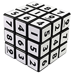 YongJun Numeral Style 3x3x3 Magic Cube Black