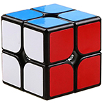 YongJun GuanPo V2 2x2x2 Magic Cube Black