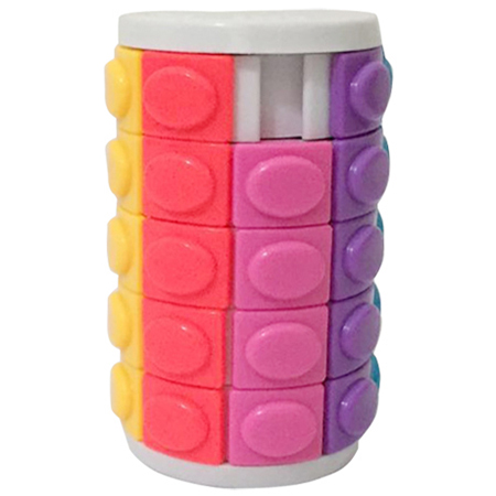 Five-layer Rotate and Slide Puzzle Magic Tower White