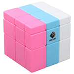 CubeTwist 3x3x3 Mixed Color Mirror Block Magic Cube - Randomly Mixed