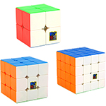 Cubing Classroom 3 in 1 2x2 3x3 4x4 Stickerless Cubes Packing