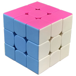YongJun GuanLong V2 3x3x3 Stickerless Magic Cube Pink Versio...