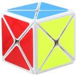 ShengShou Legend 8 Axis Dino Skewb Magic Cube White
