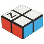 Zcube 1x2x2 Magic Cube Puzzle Black