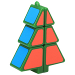 Zcube 1x2x3 Christmas Tree Magic Cube Puzzle Green