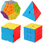 Cubing Classroom 4 in 1 Megaminx SQ-1 Skewb Pyraminx Competition Cubes Packing