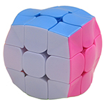 Zcube Wavy 3x3x3 Cube Puzzle Toy Stickerless Pink Version