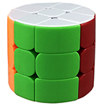 HE SHU Cylinder 3x3x3 Stickerless Magic Cube