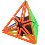 Funs limCube Framework Pyraminx Stickerless Cube Puzzle