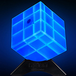 QiYi Mirror Block Magic Cube Luminous Blue