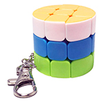 Cylinder 3x3 Magic Cube Keychain Stickerless