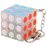 Zcube Smiley 3x3x3 Magic Cube Keychain Transparent