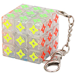 Zcube 4 Points Star 3x3x3 Magic Cube Keychain Transparent