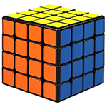QiYi Mofangge WuQue Mini 4x4x4 Speed Cube 60mm Black