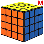 QiYi Mofangge WuQue Mini M 4x4x4 Magnetic Speed Cube 60mm Black