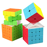 QiYi 4 in 1 2x2 3x3 4x4 5x5 Stickerless Cubes Packing