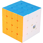 YuXin Black Kylin 4x4x4 Magic Cube Bright Stickerless