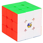 YuXin Black Kylin 3x3x3 Magic Cube Bright Stickerless