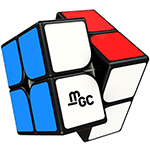 YongJun MGC Magnetic 2x2x2 Speed Cube Black