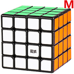 MoYu AoSu GTS2 M 4x4x4 Magnetic Speed Cube Black