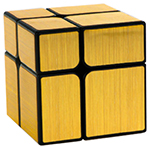 YongJun 2x2x2 Brushed Mirror Block Cube Golden