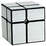 YongJun 2x2x2 Brushed Mirror Block Cube Silvery