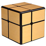 QiYi 2x2x2 Brushed Mirror Block Cube Golden