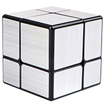 QiYi 2x2x2 Brushed Mirror Block Cube Silvery